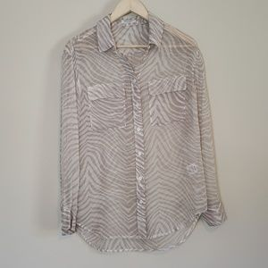 Equipment Signature Shirt in Sheer Zebra